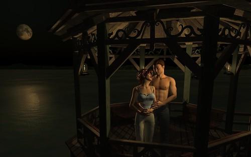 Pier View Romance - soft shadows - night