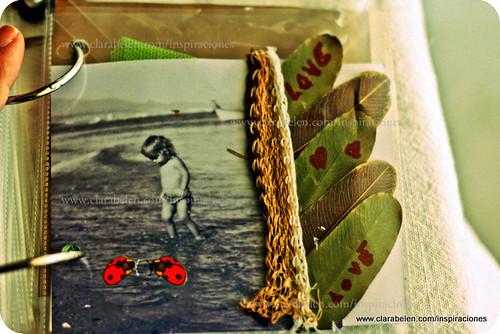 Inspiraciones manualidades y reciclaje lbum con fundas - Manualidades album de fotos ...