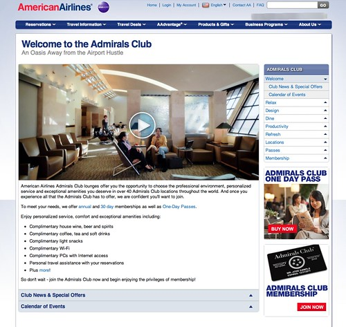 New Admirals Club Home Page