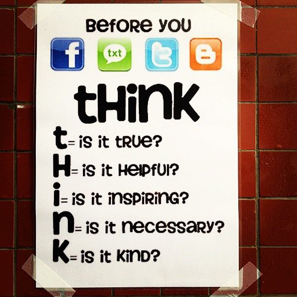 THINK before you from Flickr via Wylio