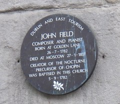 Photo of John Field brown plaque