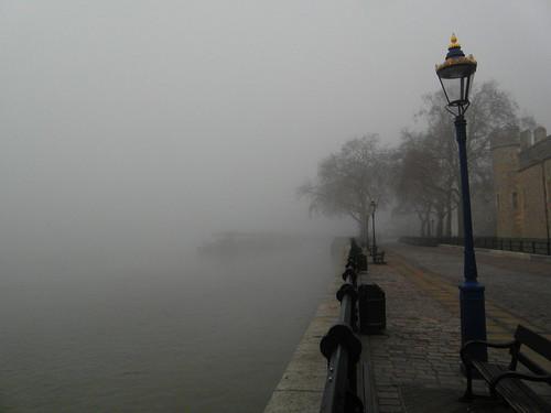 Spooky Foggy Tower Wharf by Paulie-K