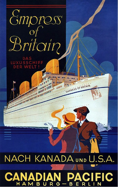Robert Schroder. Empress of Britain to Canada & USA. 1932