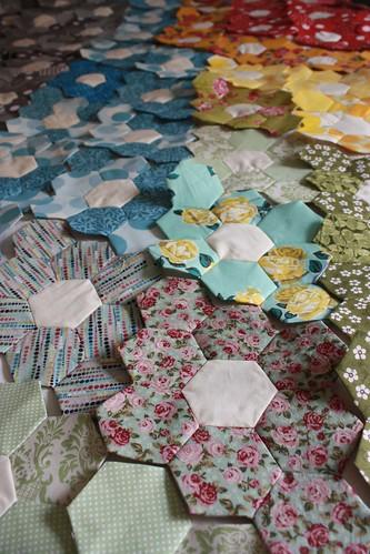 Hexagon Quilt Progress...a year later