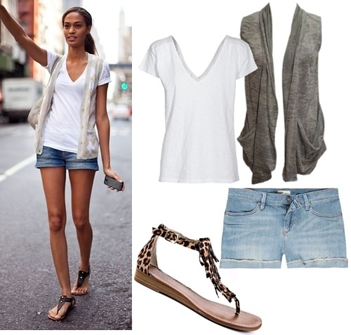how to wear sandals - with denim short