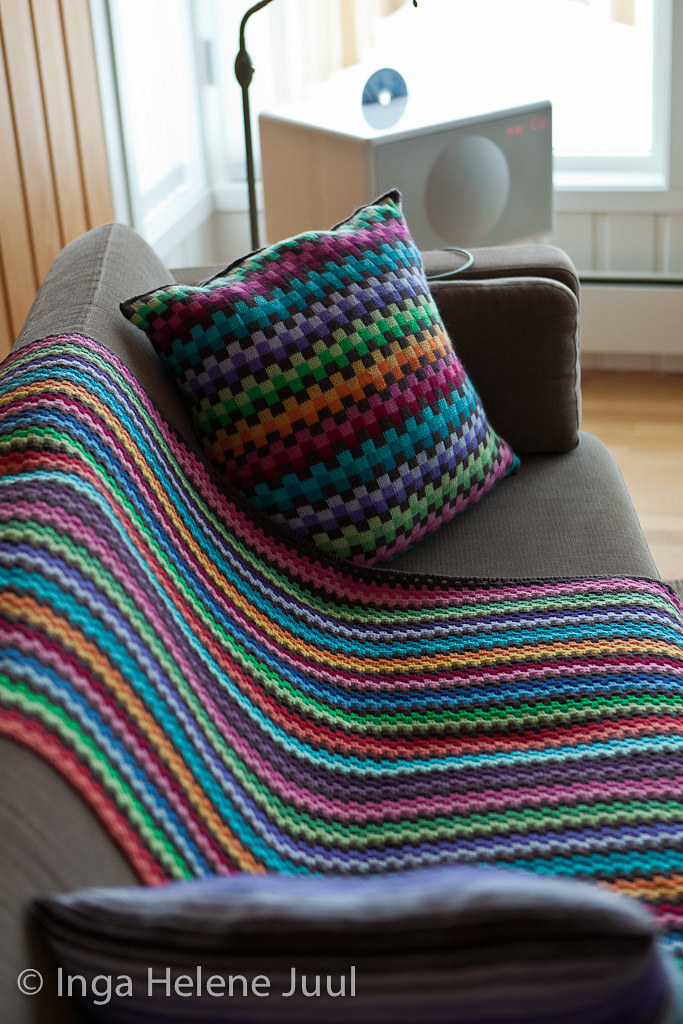 Granny stripe in progress