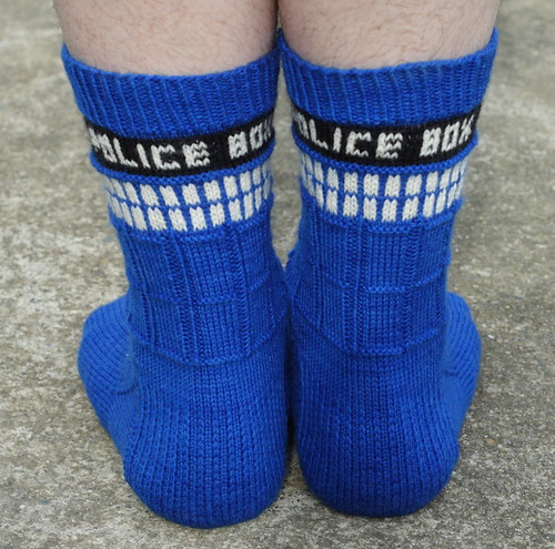 Bryan's Tardis Socks