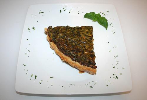 31 - Griechischer Hackfleisch-Spinatquiche / Ground meat spinach quiche - Serviert