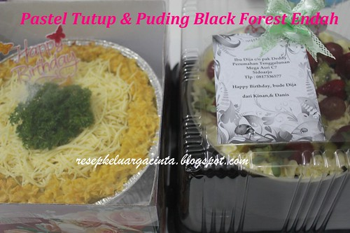 Pastel Tutup & Black Forest Puding Endah 14 April 2012