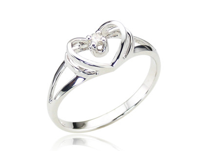 Promise Ring - 14K White Gold