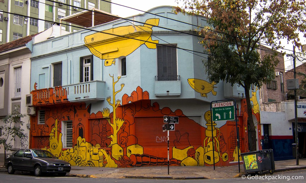 House covered in graffiti