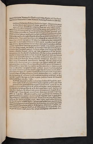 Caption title of Calderinus, Domitius: Commentarii in Ovidii Ibin.