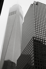 Freedom Tower & World Financial Center B&W