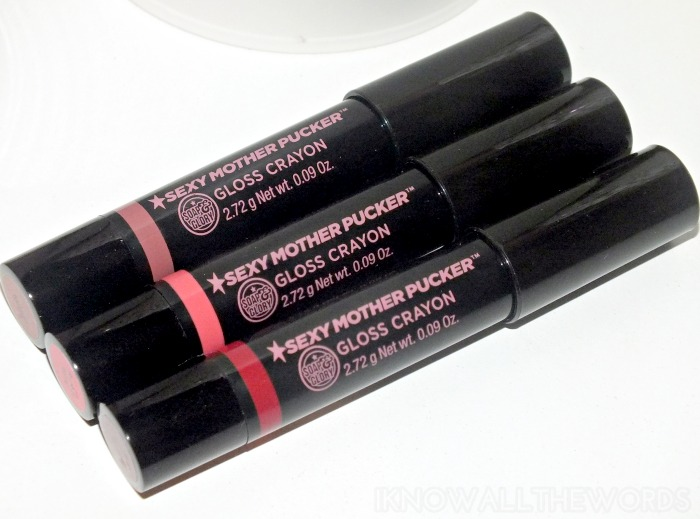 Soap & Glory Sexy Mother Pucker Gloss Crayons (9)