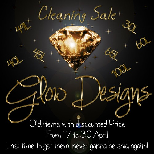 ._Glow Designs_. Cleaning Sale