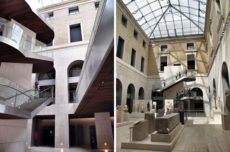 museo arqueologico nacional_man_escaleras_marmol trevertino_cubierta acristalada_patio