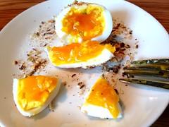 London Plane egg with dukkah