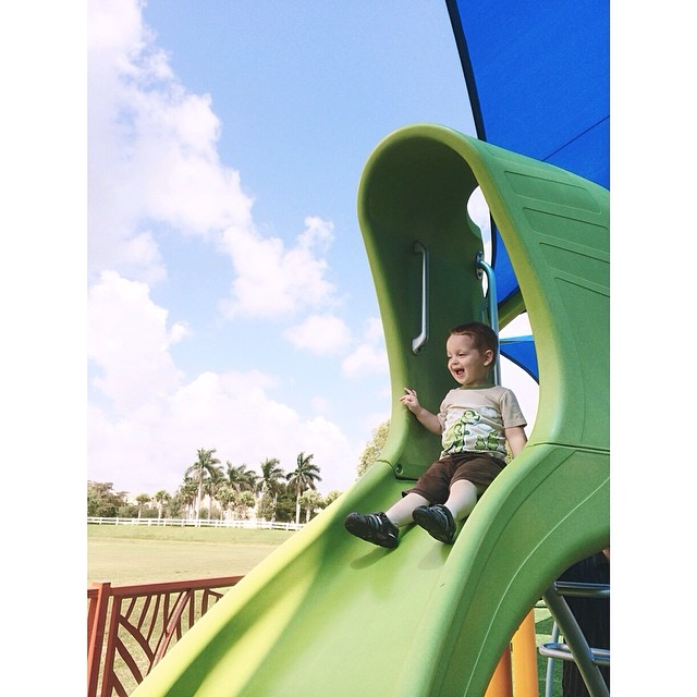 #pictapgo_app Visiting the redesigned #playground with Will! #cityoftamarac #tamarac