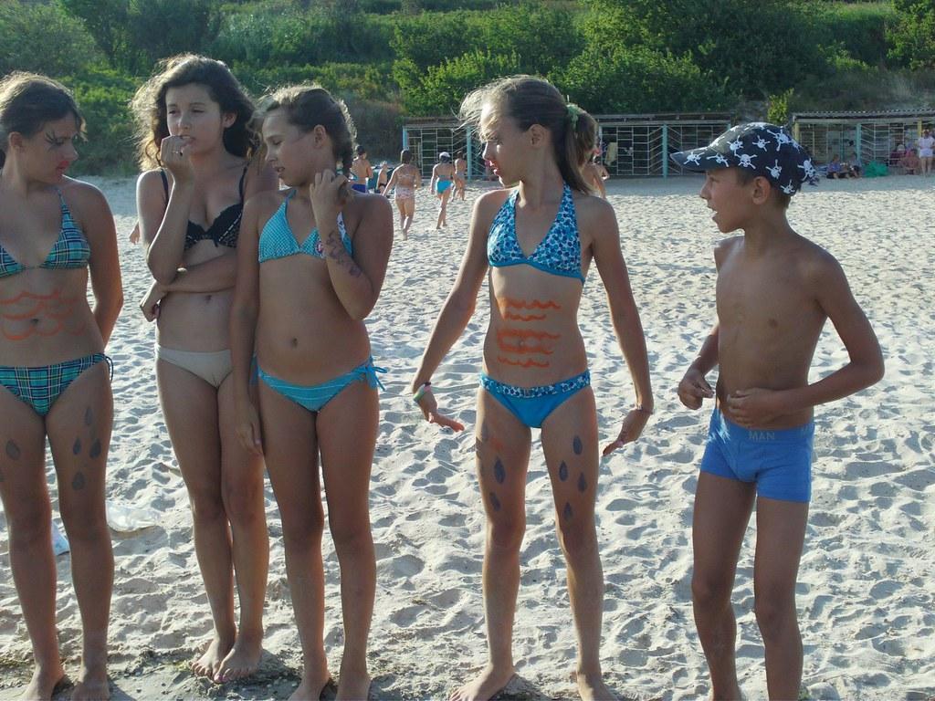 Teen little beach think