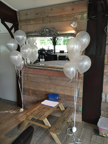 Tafeldecoratie 5ballonnen Gronddecoratie Breezze Vierpolders