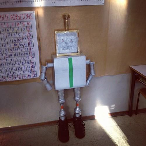 Il robot ricicloso compiti a casa