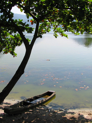 La balsa en Laguna Rodrigo de Freitas