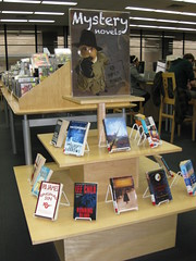 New display of mystery titles in Open Book
