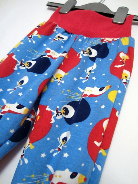 blue astronaut trousers waistband