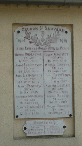 Caubon Saint Sauveur - War Memorial 01
