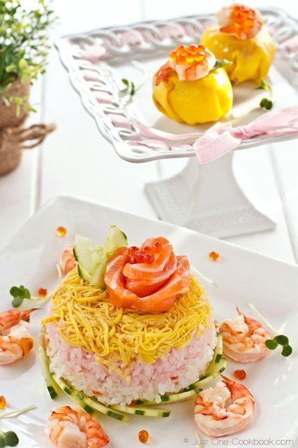Chirashi Sushi Cake for 6bittersweets III