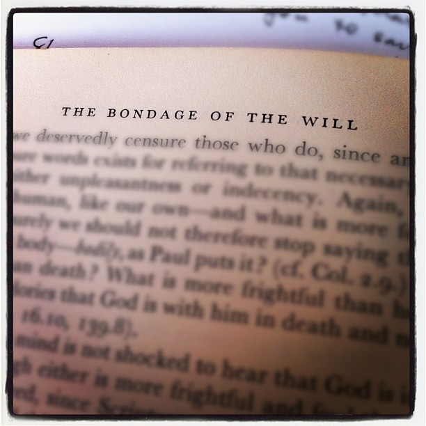 One of Martin Luther's best writings.  I'm a little behind in my reading. . .