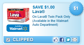 Lava Twin Pack Only (available In The Walmart Auto Department)  Coupon