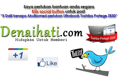 Bantuan diperlukan untuk klik Social button