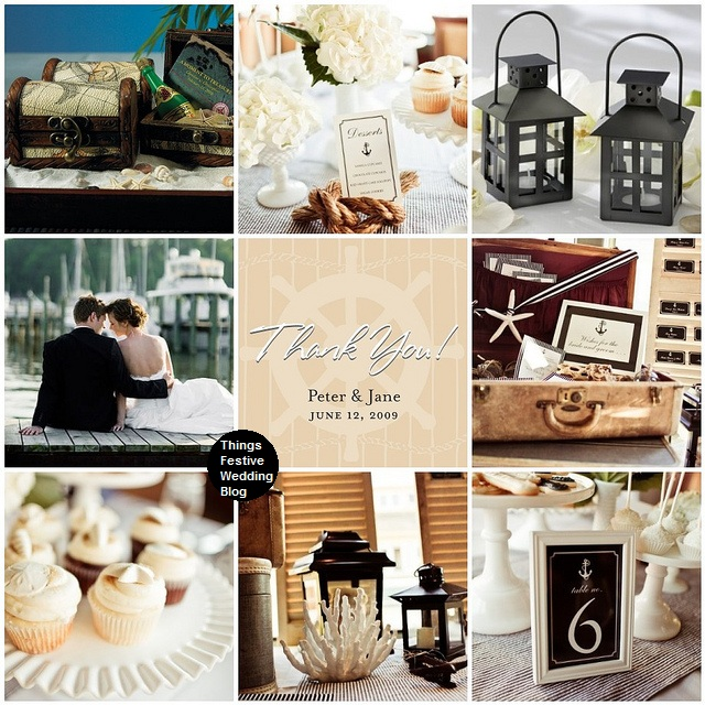 Nautical Wedding Ideas Pictures: Nautical Themed Wedding In Mocha, Black & Ivory