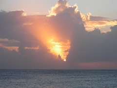 Sunset from Cliffhanger Bar, Cupecoy, St Maarten, Feb 2008