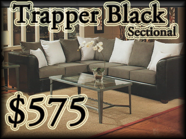 2106TrapperBlackSectional$575