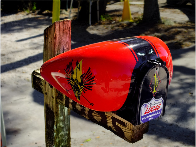 nifty colorful mailbox harley davidson motorcycle fuel ta