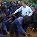 March 2012- UNDP's Jordan Ryan with workers of Buruhukiro road building project in Nyagasaka Village 3
