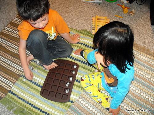 Montessori-Inspired Creative Math (Photo from Barefoot in Suburbia)
