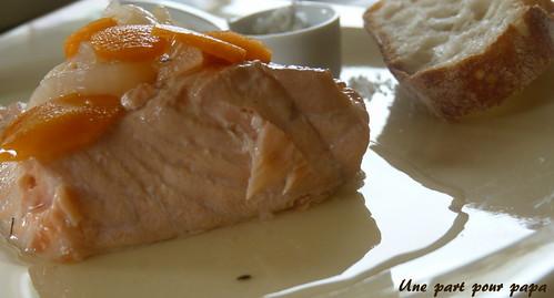 Saumon en marinade de vin blanc aux l gumes une cuiller e pour papa - Entree simple et raffinee ...