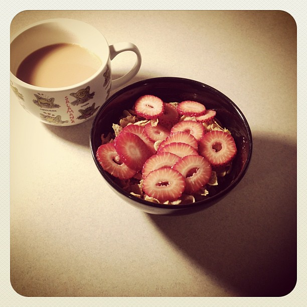 cereal and coffee