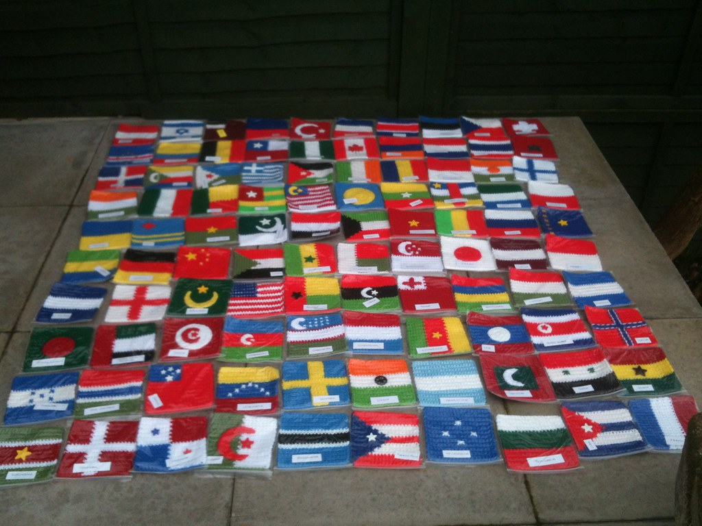 100 Beautiful Flags from akarapacha! Please 'add note' if you see your Country! :)