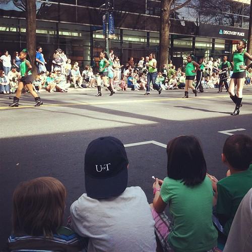 Killian actually sat through most of the parade