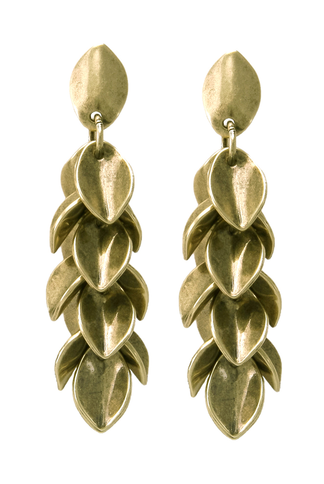 Wheat Petal Earrings