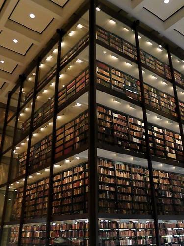 beinecke library interior