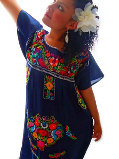 jardin de flores mexican embroidered dress
