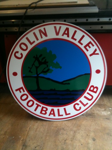 COLIN VALLEY FOOTBALL FOAMEX PLAQUE