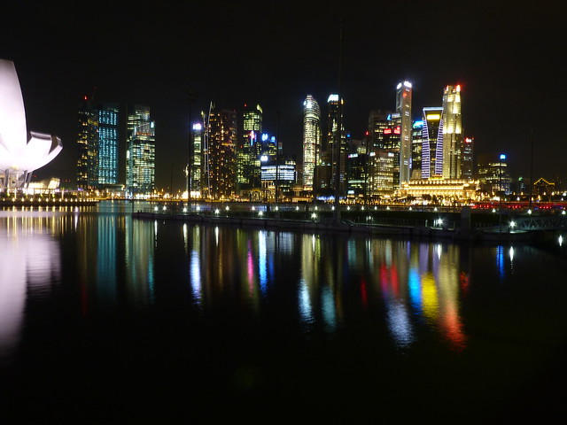 Singapore by night - Central Business District Skyline