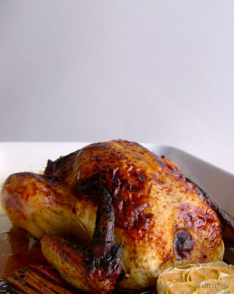 Pollo laqueado