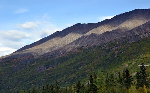 Ribbon of light across a mountain - Denali National Park, Alaska landscape